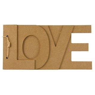 Objekten zum Dekorieren / objects for decorating Papier mache boek LOVE