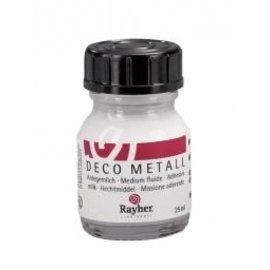 BASTELZUBEHÖR, WERKZEUG UND AUFBEWAHRUNG Deco-Metall-Anlegemilch, flydende, flaske 25 ml (med BASTELTIPP)