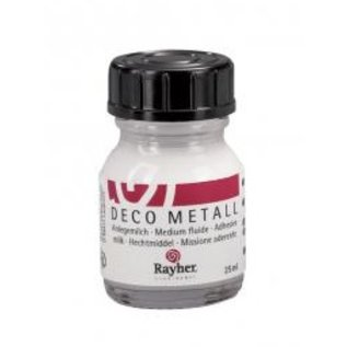 BASTELZUBEHÖR, WERKZEUG UND AUFBEWAHRUNG Deco-Metall-Anlegemilch, dünnflüssig, Flasche 25 ml (mit BASTELTIPP)