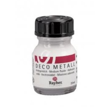 BASTELZUBEHÖR, WERKZEUG UND AUFBEWAHRUNG Deco-Metall-Anlegemilch, liquido, flacone da 25 ml (con BASTELTIPP)