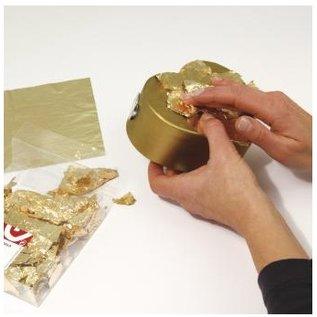 BASTELZUBEHÖR, WERKZEUG UND AUFBEWAHRUNG Deco metal, 14x14 cm, tab-bag. 5 sheets, gold