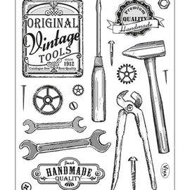 VIVA DEKOR (MY PAPERWORLD) Gennemsigtige frimærker, vintage værktøjer