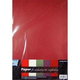 Karten und Scrapbooking Papier, Papier blöcke Utforming med papir, 25 ark papp, varm farge, 200 gr!