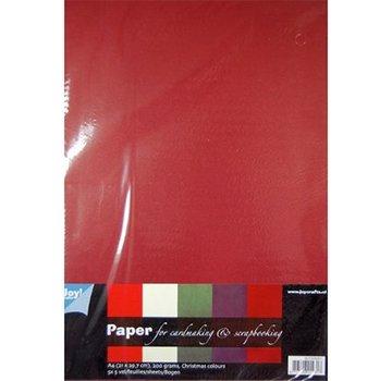 Karten und Scrapbooking Papier, Papier blöcke Håndværk med papir, 25 ark karton, varm farve, 200 gr !!