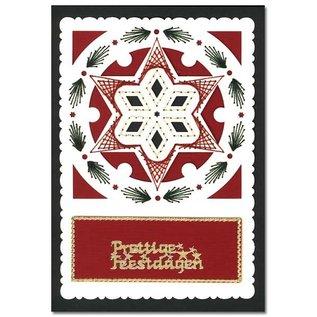 KARTEN und Zubehör / Cards Luxe oplegkaart 1Set met 3 kaarten, 10,5 x 14,85 cm