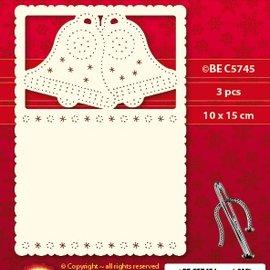 KARTEN und Zubehör / Cards Lujo tarjeta 1Ajuste capa con 3 cartas, 10 x 15 cm