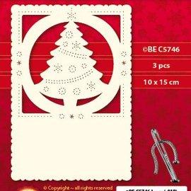 KARTEN und Zubehör / Cards Luxus Kartenunterlage 1Set mit 3 Karten, 10 x 15 cm