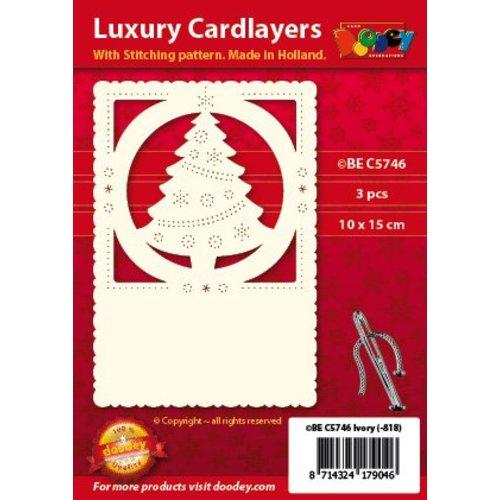 KARTEN und Zubehör / Cards couche carte de luxe 1Régler avec 3 cartes, 10 x 15 cm