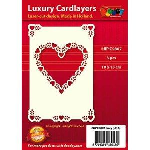 KARTEN und Zubehör / Cards Luxury card layer 1Set with 3 cards, 10 x 15 cm