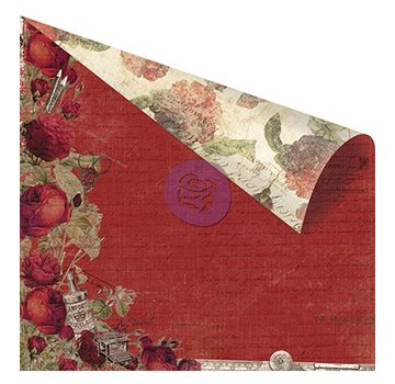 """Designer Papier Scrapbooking: 30,5 x 30,5 cm Papier Dubbelzijdig bedrukt ontwerper papier, """"Red Romance"""""""