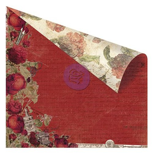"Designer Papier Scrapbooking: 30,5 x 30,5 cm Papier Double-sided printed designer paper, ""Red Romance"""