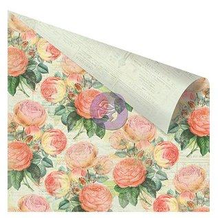 "Prima Marketing und Petaloo Dubbelzijdig bedrukt ontwerper papier, ""Roze Rozen"""
