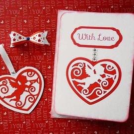 Marianne Design Punzonatura - e goffratura stencil, Filigranes cuore con angelo