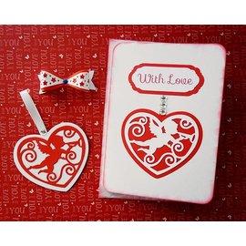 Marianne Design Punching - et gaufrage pochoir, Filigranes coeur avec un ange