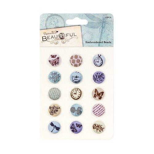 Embellishments / Verzierungen Embroidered Brads