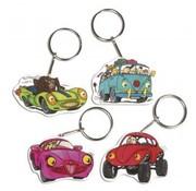 Kinder Bastelsets / Kids Craft Kits Shrink Films Set Crazy Cars