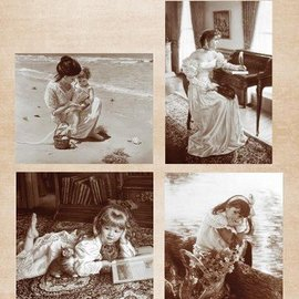Nellie Snellen Imágenes vintage - hoja A4