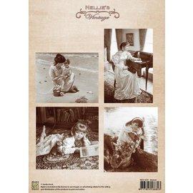 Nellie Snellen Vintage Bilder - A4 Bogen