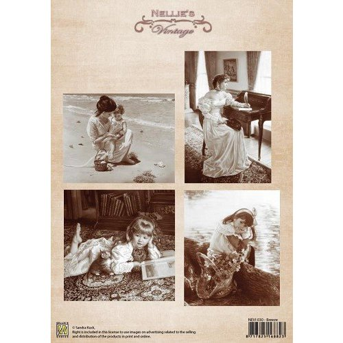 Nellie Snellen Images Vintage - feuille A4
