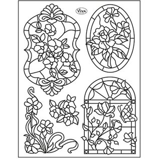 VIVA DEKOR (MY PAPERWORLD) Clear stamps, Tiffany Window