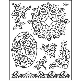VIVA DEKOR (MY PAPERWORLD) Clear stamps, Tiffany Window