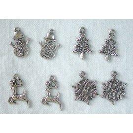 Embellishments / Verzierungen Metal - Charms 4x2 st. Invierno