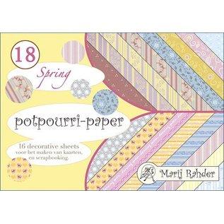 Karten und Scrapbooking Papier, Papier blöcke Ontwerper blok, A5-potpourri-papier