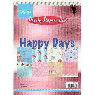 Karten und Scrapbooking Papier, Papier blöcke Jolis papiers, A5, Happy Days, 4x 8 motifs