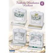 BASTELSETS / CRAFT KITS set Materiale di 4 carta di nozze nobile