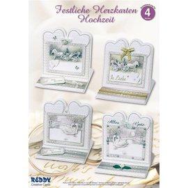 BASTELSETS / CRAFT KITS Materiaal set voor 4 adellijke bruiloft kaart