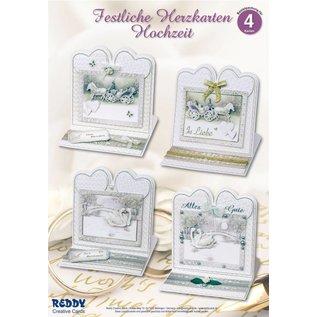 BASTELSETS / CRAFT KITS Material set for 4 noble wedding card
