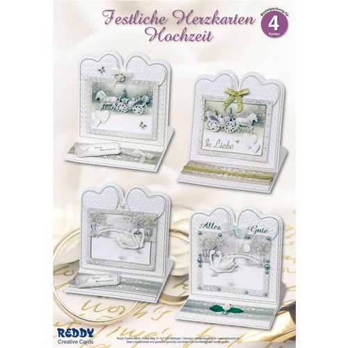 BASTELSETS / CRAFT KITS Material set for 4 noble wedding card