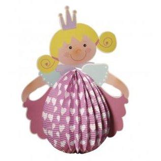 Kinder Bastelsets / Kids Craft Kits Lantaarnset prinses, 20cm ø, 37,5cm incl. Staaf + LED lamp