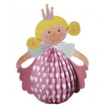 Kinder Bastelsets / Kids Craft Kits Lantern Set Princess, 20 cm in diameter, 37,5 cm incl. Rod + LED-licht