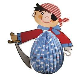 Kinder Bastelsets / Kids Craft Kits Linterna del pirata del sistema, 20 cm de diámetro, 35.5cm, incl. Luz de Rod + LED
