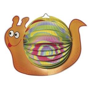 Kinder Bastelsets / Kids Craft Kits Laternen-Set Schnecke, 20cm ø, 35cm, inkl. Stab+LED-Lämpchen
