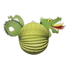 Kinder Bastelsets / Kids Craft Kits Linterna Set Dragón, 20cm de diámetro, 40,5 cm, incl. Luz de Rod + LED