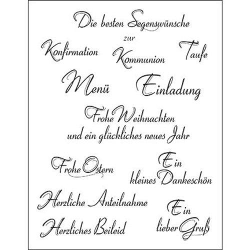 VIVA DEKOR (MY PAPERWORLD) Transparent stamps, German text, 14x18cm