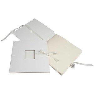 Embellishments / Verzierungen Edele boek met lint, afmeting 20x20 cm, 1 stuk