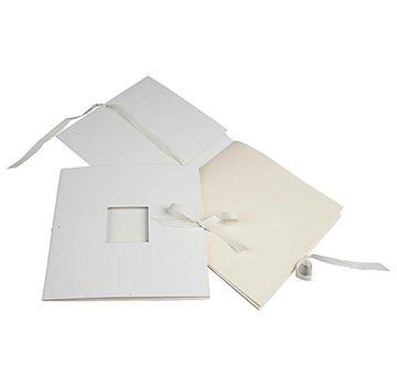Embellishments / Verzierungen libro Edele con nastro, formato 20x20 cm, 1 pc