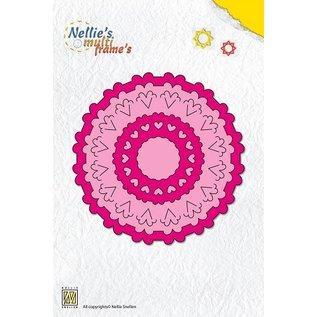 Nellie Snellen 20% REDUZIERT!  Multi Schablone, 6 runde, Frames Format zwischen 10 cm - 2,5 cm