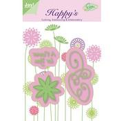 Joy!Crafts / Jeanine´s Art, Hobby Solutions Dies /  prick stansning og prægning stencil og broderi