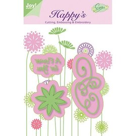 Joy!Crafts / Jeanine´s Art, Hobby Solutions Dies /  coups de poing et piqûre pochoir gaufrage et broderie