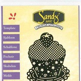 Schablonen, für verschiedene Techniken / Templates Patronen, Sandy Art, Cupcake