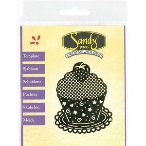 Schablonen, für verschiedene Techniken / Templates Patterns, Sandy Art, gâteau