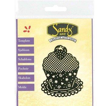 Schablonen, für verschiedene Techniken / Templates Mønstre, Sandy Art, Cupcake