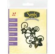Schablonen, für verschiedene Techniken / Templates Patterns, Sandy Art, flowers