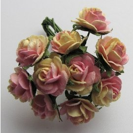 BLUMEN (MINI) UND ACCESOIRES Mulberry roosjes, 10 Blossom - Copy - Copy
