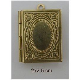 Embellishments / Verzierungen 2 foto hangers, boek