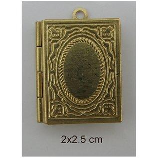 Embellishments / Verzierungen 2 photo pendants, Buch